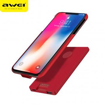 Power Case 4000 mAh Awei B2 για iPhone X (ΚΟΚΚΙΝΟ)