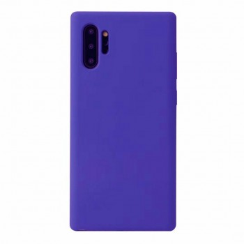 SILKY SOFT TPU BACK COVER FOR SAMSUNG NOTE 10 PLUS - SATURATED BLUE