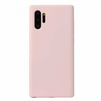SILKY SOFT TPU BACK COVER FOR SAMSUNG NOTE 10 PLUS - SMOKE PINK