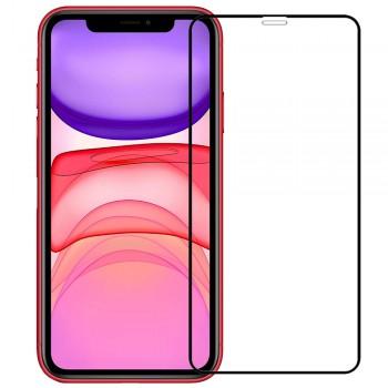 OEM Tempered Glass Full Cover Full Glue For Iphone 11 - Black