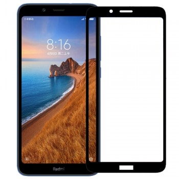 OEM Xiaomi Redmi 7A Full Cover Protection Tempered Glass Screen Protector Black