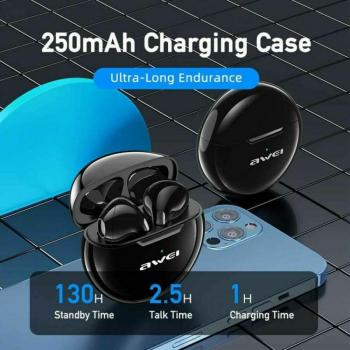 AWEI T17 Bluetooth Ακουστικά TWS με Θήκη Φόρτισης - Black