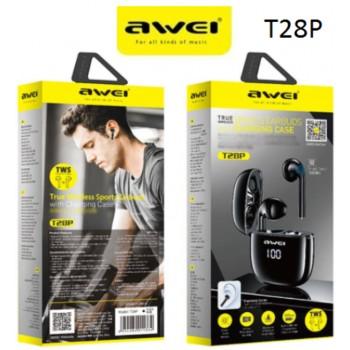 Ακουστικά Bluetooth Awei T28P TWS Smart touch Double Ear Wireless - Black