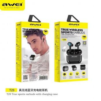 Ακουστικά Bluetooth Awei T29 TWS 5.0 Smart touch Double Ear Wireless - Black