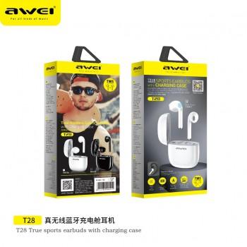 Ακουστικά Bluetooth Awei T28 TWS 5.0 Double Ear Wireless - Black