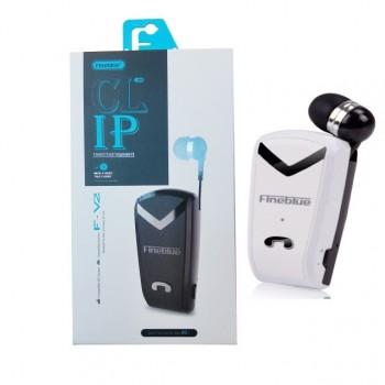 Ακουστικό Fineblue F-V2 Wireless Bluetooth Handsfree 2in1 Multipoint Connecting - Λευκό