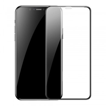 OEM IPhone 12/12 Pro 20D Full Face & Full Glue Tempered Glass Screen Protector Black