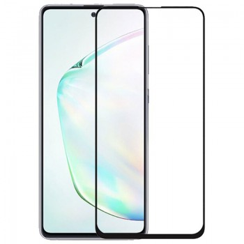 OEM Full Face & Full Glue Tempered Glass Screen Protector For Samsung Galaxy Note 10 Lite - Black