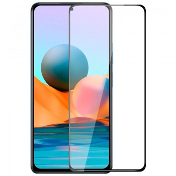 OEM Full Face & Full Glue Tempered Glass Screen Protector For Xiaomi Redmi Note 10 5G - Black
