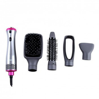 VGR V-408 Professional Hot Air Styler Combo Pack of Roller Hollow Comb, Concentrator Nozzle and Electric Hair Brush ( Grey)