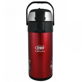 Cyber CYAP-3030S Θερμός Καφέ Stainless Steel Airpot Flask 3.0 Liter - κοκινο