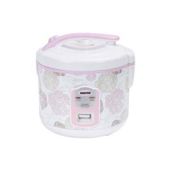 Geepas GRC4334 500Watts Electric Rice Cooker 1.5Liter - White