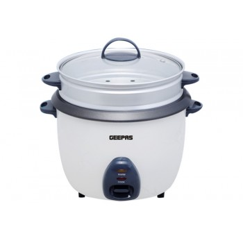Geepas GRC4325 1L Electric Rice Cooker -Cook/Warm/Steam, High-Temperature Protection