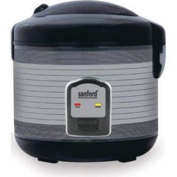Sanford SF1196RC Rice Cooker, 900 Watts, 2.8 Litre - Black/Grey