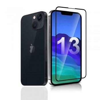 "OEM IPhone 13 Mini Full Face & Full Glue Tempered Glass Screen Protector (5.4"" Inch) - Black"