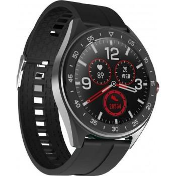 "Smartwatch Lenovo R1 IP68 280mAh V4.0 All Touch 1.3"" Silicon Band με Επιπλέον λουράκι και προσόψεις - Μαύρο"
