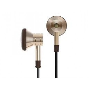 1More EO320 Single Driver Earbuds Headphones with In-line Microphone and Remote - Gold