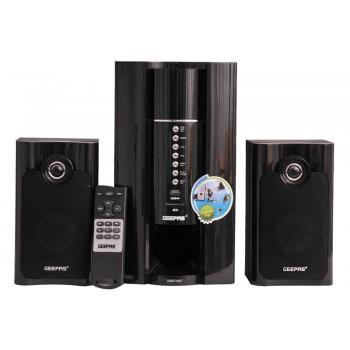 GEEPAS GMS7493R Ηχοσύστημα  Super Bass SD Card/FM Radio Bluetooth Μαύρο (UK Plug)