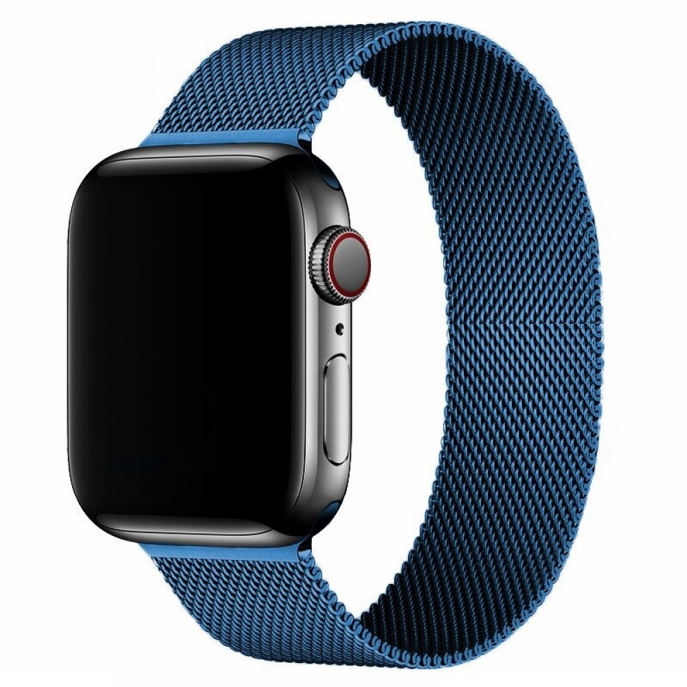 OEM SMART BRACELET STAINLESS STEEL MAGNETIC FOR APPLE WATCHES 42MM/44MM - BLUE