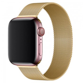 OEM SMART BRACELET STAINLESS STEEL MAGNETIC FOR APPLE WATCHES 42MM/44MM - GOLD