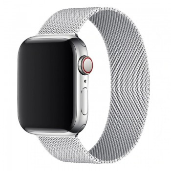 OEM SMART BRACELET STAINLESS STEEL MAGNETIC FOR APPLE WATCHES 42MM/44MM - SILVER
