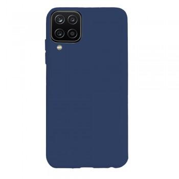 θήκη Πλάτης με Διάφορα Χρώματα Για Samsung Galaxy A12 - Σκούρο μπλε