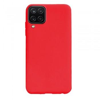θήκη Πλάτης με Διάφορα Χρώματα Για Samsung Galaxy A12 - κόκκινο